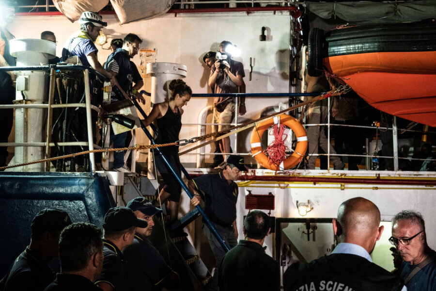 24 Sea Watch 3 Arriving Lampedusa Standoff Carola Rackete Mediterranean Selene Magnolia